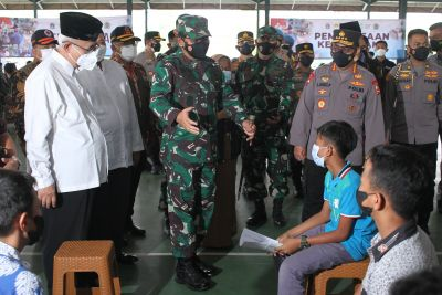 LDII-TNI-Polri Siap Bantu Pemerintah Capai Target Vaksinasi